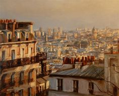 Original art for sale at UGallery.com | View from Montmartre by Jonelle Summerfield | $1,900 | oil painting | 24' h x 30' w