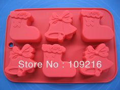 Christmas socks Cake Mold Soap Mold Silicone Mold Biscuit Mold Baking Tool Fondant Mold Resin Fimo M Christmas Gift Cake, Christmas Bells, Fondant Molds, Cake Mold, Silicone Chocolate Molds, Silicone Molds, Ice Candy, Bath Bomb Molds, Baking Clay