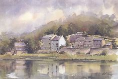 geoff kersey - Google Search Cromford Derbyshire Watercolor Architecture, Watercolor Landscape, Landscape Paintings, Watercolor Paintings, Watercolours, Art Aquarelle, Derbyshire, Painting & Drawing, Scenery