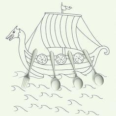 """Eat like a Viking! A fresh take on gud-for-you dining."" Illustration for @OprahMagazine #OprahMagazine #viking #vikingdiet"