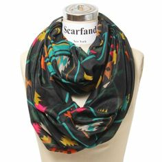 Amazon.com: Scarfand's Mixed Infinity Brick Scarf (Chevron Mint): Clothing