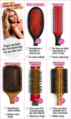 Guia da Escova de Cabelo Beauty Tips 101, Beauty Tutorials, Health And Beauty Tips, Beauty Hacks, Cute Curly Hairstyles, Curly Hair Styles, Natural Hair Styles, Long Curly Hair, Curly Girl