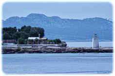 Aegina Approaching the island of Aegina.