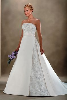 lace and satin wedding dress