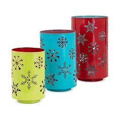 Whimsy Christmas Pierced Snowflake Ceramic Lantern Set (Set of by The Holiday Aisle Decorative Objects, Decorative Accessories, Home Accessories, Ceramic Lantern, Christmas Candle Holders, Lantern Set, Christmas Snowflakes, Home Decor Outlet, Planter Pots