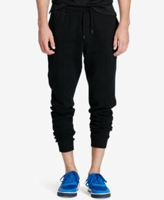 Men'S Ribbed Jogger Pants, Black. Jogger PantsJoggersPolo ...
