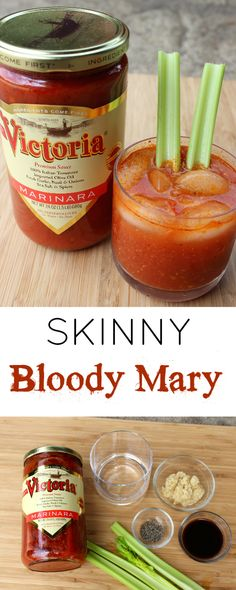 Skinny Bloody Mary that is super simple using clean ingredient marinara sauce as your mixer.