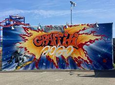 New at Coney Art Walls: Lee Quinones, Mark Bodé, Chris Stain & Art Walls, Wall Art, Street Art Photography, New York Street, Mural Art, Street Artists, Graffiti, Art Gallery, Scene
