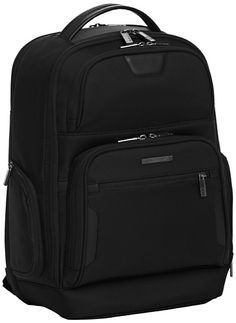 Briggs & Riley @ Work Luggage Backpack, Black, One Size  Remain highly mobile and professionally polished with this medium-sized backpack, featuring ultimate laptop protection and capacity for files in an easy to use ergonomic design, fits 15, 6-inch laptops, lifetime warranty Ballistic nylon outer fabric resists wear, water, dirt and abrasion Ballistic nylon outer fabric resists wear, water, dirt and abrasion Speedthru pocket for quick storage of items at security checkpoints Ballis..