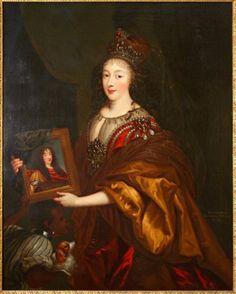 Henriette-Anne d'Angleterre, Madame, duchesse d'Orléans, tenant le portrait de son mari Monsieur, duc d'Orléans