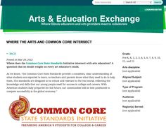 Where the Arts and Common Core intersect... http://www.artseducationexchange.org/where-arts-and-common-core-intersect