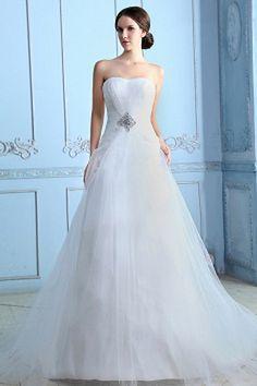 Weekly Special Product: Schatz Aus Elfenbein Tüll Hochzeitskleid ma0493 - Order Link: http://www.modeabendkleider.de/schatz-aus-elfenbein-tull-hochzeitskleid-ma0493.html - Farbe: Elfenbein; Silhouette: A-Line; Ausschnitt: Sweetheart; Verzierungen: Kristal