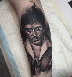 Benjamin Laukis really captured Al Pacino's eyes. Future Tattoos, Tattoos For Guys, Tattoos For Women, Mark Tattoo, I Tattoo, Tattoo Pics, Al Pacino, Tattoo Sleeve Designs, Sleeve Tattoos