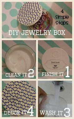Diy summer jewelry box : - 4 simple staps - 1. Take an old lotion box that you all rady done 2. Take off the sticker 3.wash it 4. Decor it whit some cool whsi-type And... you done!!