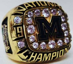 1997 Michigan Wolverines Ring