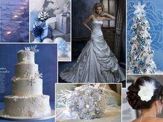 Silver  Blue- Winter Wedding Inspiration