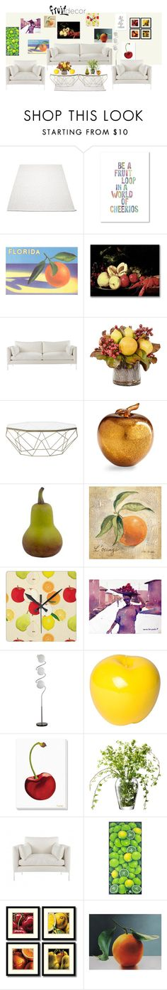 """""""Minimal Chic Fruit"""" by demy19-l on Polyvore featuring interior, interiors, interior design, home, home decor, interior decorating, Trademark Fine Art, Frontgate, Cyan Design and NOVICA"""
