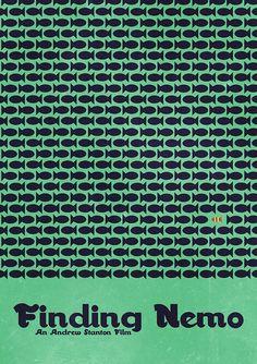 Minimal Movie Posters — Finding Nemo by Matt Bacon anonymous' request Minimal Movie Posters, Minimal Poster, Cool Posters, Film Posters, Posters Tumblr, Finding Nemo Movie, Finding Dory, Disney Posters, Alternative Movie Posters