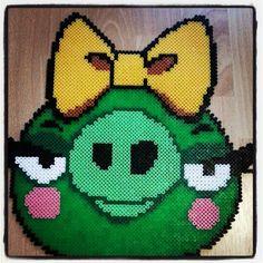 Angry Birds bad piggy hama perler beads by lenap111