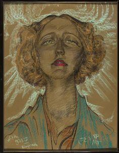 Portret Eugenii Bundykowej, 1933, by Stanisław Ignacy Witkiewicz (Polish, 1851-1915)