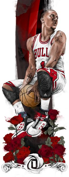 Derrick Rose by Chris DiBenedetto, via Behance