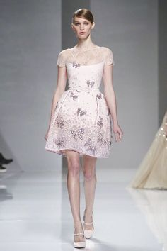 Georges Hobeika Couture Spring Summer 2015 Paris trend butterfly applications