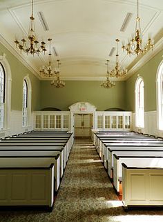 More White And Stained Pews Framed Out Windows Church BuildingBuilding IdeasChurch DesignWedding