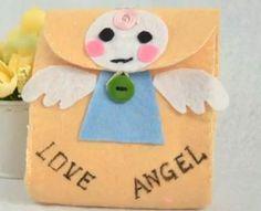 DIY Felt bags of love angel baby