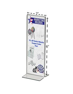 Retail Pricing Sheet Menu Table Countertop Bottom Loading Display Holder #MarketingHolders Acrylic Frames, Clear Acrylic, Menu Table, Coupon Codes, Signage, Countertops, Coding, Retail, Display