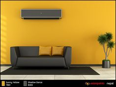 Have a look at these beautiful interior walls & get inspired by these innovative shades and fashionable color trends for your rooms. These are the best painting ideas available in Nepal Asian Paints Colour Shades, Asian Paints Colours, Paint Shades, Bedroom Colors, Bedroom Ideas, Wall Paint Colour Combination, Paint Combinations, Wall Paint Colors, Yellow Walls
