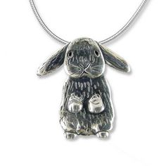 Show the world how you love your lop! Adorable Sterling Silver Lop-Eared Rabbit Large Pendant: http://www.themagiczoo.com/sterling-silver-lop-eared-rabbit-large-pendant.html $89