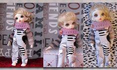2 pcs Hand knit sweater and trousers 1/6 bjd fairyland LittleFee Bisou #BJD