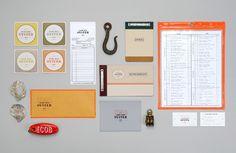 Island Creek Oyster Bar by Oat , via Behance #graphicdesign #branding