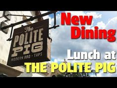 Lunch at The Polite Pig | Disney Springs - YouTube
