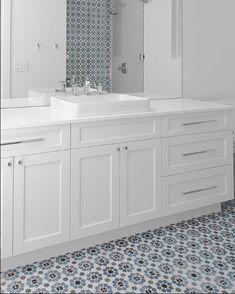 Tile Walk In Shower, Bathroom Stand, Cottage Renovation, Bathroom Goals, Terrazzo, Cement, Double Vanity, Tiles, Clay