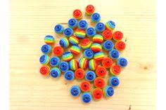 Χάντρα Νο10 27314C  Χάντρες πολύχρωμες με λευκή ρίγα.Μέγεθος: 10mmΣυσκευασία 50 τεμαχίων. Beads, Beading, Bead, Pearls, Ruffle Beading, Pony Beads, Seed Beads