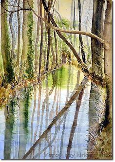 Landschaften - Malerei in Aquarell und Acryl