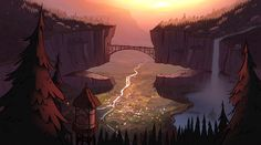 The Gravity Falls scenery holds vital clues