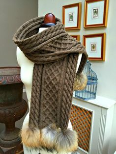 just saying ...: Aran scarf