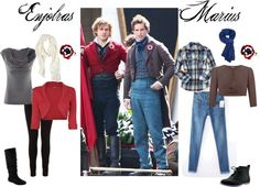 """""""Enjolras and Marius"""". I really want one of those pins!!!"""