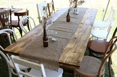 #156 Trestle Table - Rustic Timber (seats 10)
