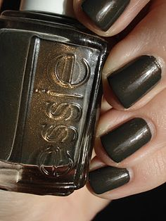 This isn't a color i'd usually wear, but it is interesting.   Essie: Armed and Ready