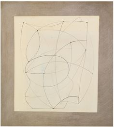 BEN NICHOLSON, O.M. 1894-1982 UNTITLED signed, dated 1966 and inscribed on the backboard pen and ink and wash on paper, laid on the Artist's board, overall: 49 by 44cm