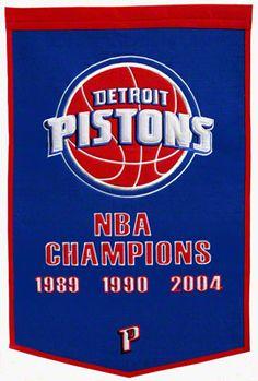 Detroit Pistons Dynasty Banner