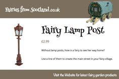 Fairy Lamp Post  #fairyvillage #miniature #model #garden #ornament