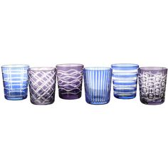 Pols Potten Tumbler Cobalt - Set of 6 (1 445 ZAR) ❤ liked on Polyvore featuring home, kitchen & dining, drinkware, multi, cobalt blue tumblers, colored glass tumblers, cobalt glassware, colored glassware and cobalt blue glassware