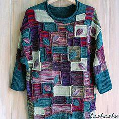 Ravelry: Colorblock oversized sweater pattern by Svetlana Gordon