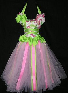 Image detail for -Apple Green and Pink Ballerina Hair Bow Holder