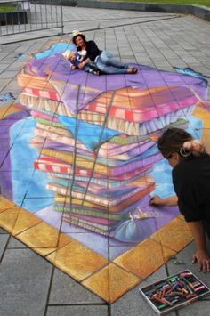 Princess & the Pea, Netherlands by We Talk Chalk -- 3D street painting