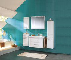 Formschönes Waschbecken mit Unterschrank bereichert Ihr Bad